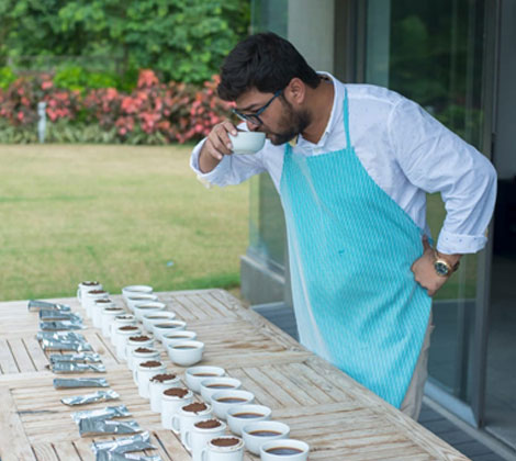 Founder Amit Shah during one of the tea tasting sessions